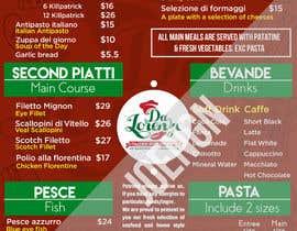 Nro 17 kilpailuun Italian Restaurant menu käyttäjältä joengn