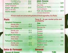 Nro 10 kilpailuun Italian Restaurant menu käyttäjältä yegeta