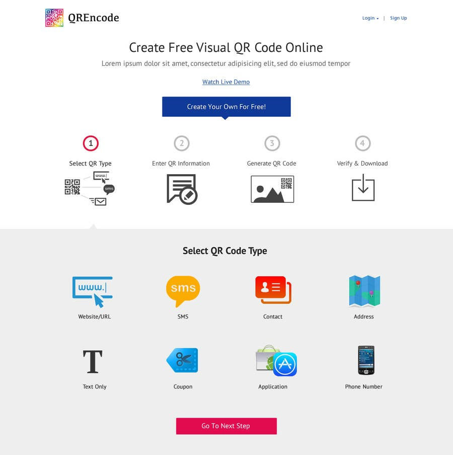 #27 for Design a Website User Interface for QRcode generation company by clickinn