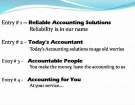 #219 untuk Business name - Accounting firm oleh syefar