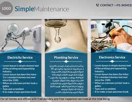 Nro 11 kilpailuun design a brochure for electricity and plumbing small business käyttäjältä skillshubham