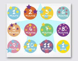 #4 for create 12 animation for baby monthly stickers by DashL