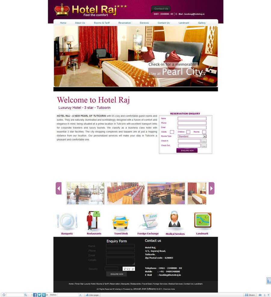 Proposition n°16 du concours Create a Wordpress Template for Hotel