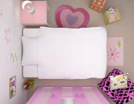 #36 for Create a small, easy and very simple girls bedroom scene by brav7979