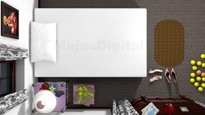 #20 for Create a small, easy and very simple girls bedroom scene by majasdigital
