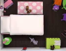 redlampdesign tarafından Create a small, easy and very simple girls bedroom scene için no 10