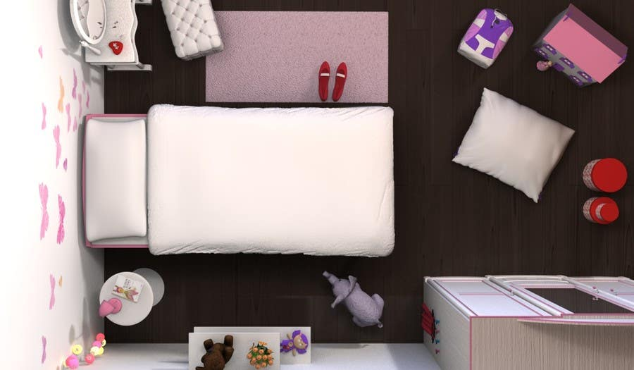#24 for Create a small, easy and very simple girls bedroom scene by redlampdesign