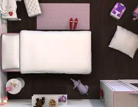 redlampdesign tarafından Create a small, easy and very simple girls bedroom scene için no 24