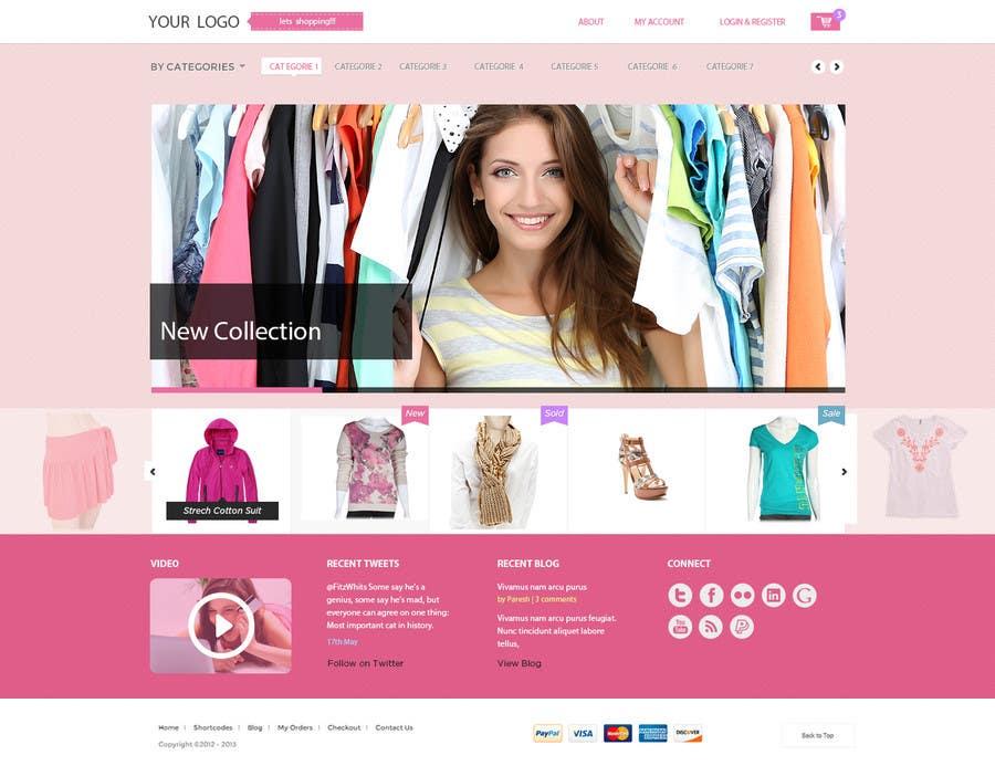Kilpailutyö #4 kilpailussa Design a Website Mockup for Clothes online shop