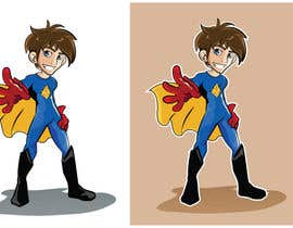 nº 16 pour Design an awesome vector logo for a superhero character - par bluemerry04