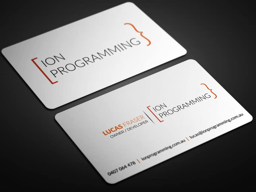 entry 84 by atikul4you for design business cards for ion