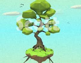 ScottContina tarafından 3D Low Poly Landscape with a nice Tree için no 2