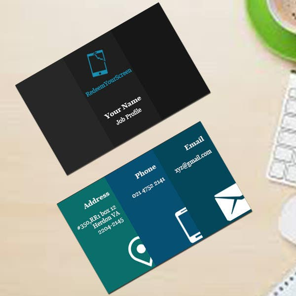 Entry 5 By Manishec57 For Design Some Business Cards For A Broken