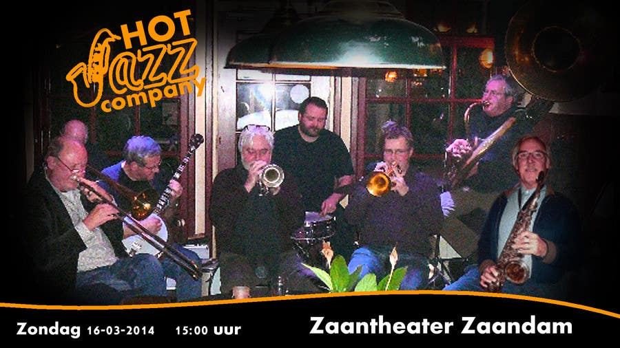#9 for Design a simple band advertisement for Hot Jazz Company by anazvoncica