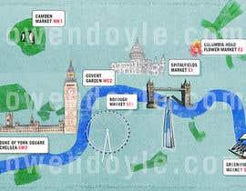 Nro 14 kilpailuun London Market Map käyttäjältä owencreative