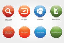 #66 for Button Design for Homepage Icons by alexisco