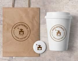 lareveuse tarafından Design a Logo for a small coffee roasting business in New Zealand called Procaffeinate için no 46