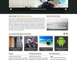 #23 cho Design a Website Mockup for our new product design website bởi asad12204