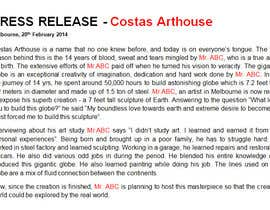 #3 para Costa Arthouse Writeup Competition por writersquality