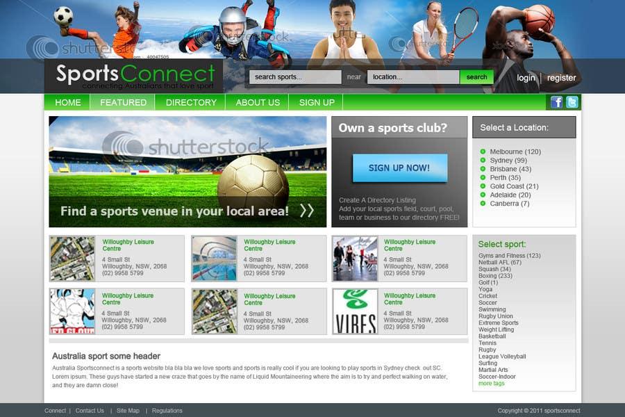 Inscrição nº 104 do Concurso para Website Design for Sportsconnect