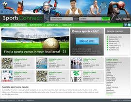 #104 för Website Design for Sportsconnect av fecodi