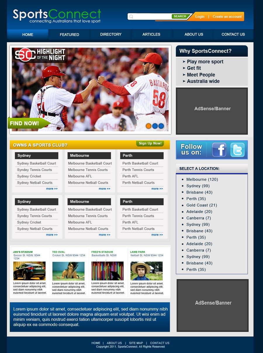 Inscrição nº 47 do Concurso para Website Design for Sportsconnect
