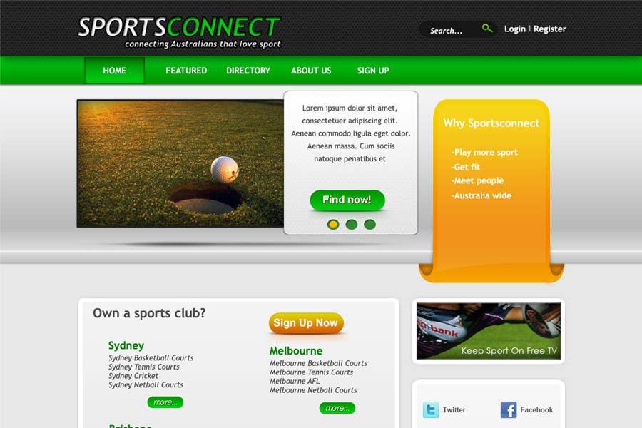 Inscrição nº 18 do Concurso para Website Design for Sportsconnect