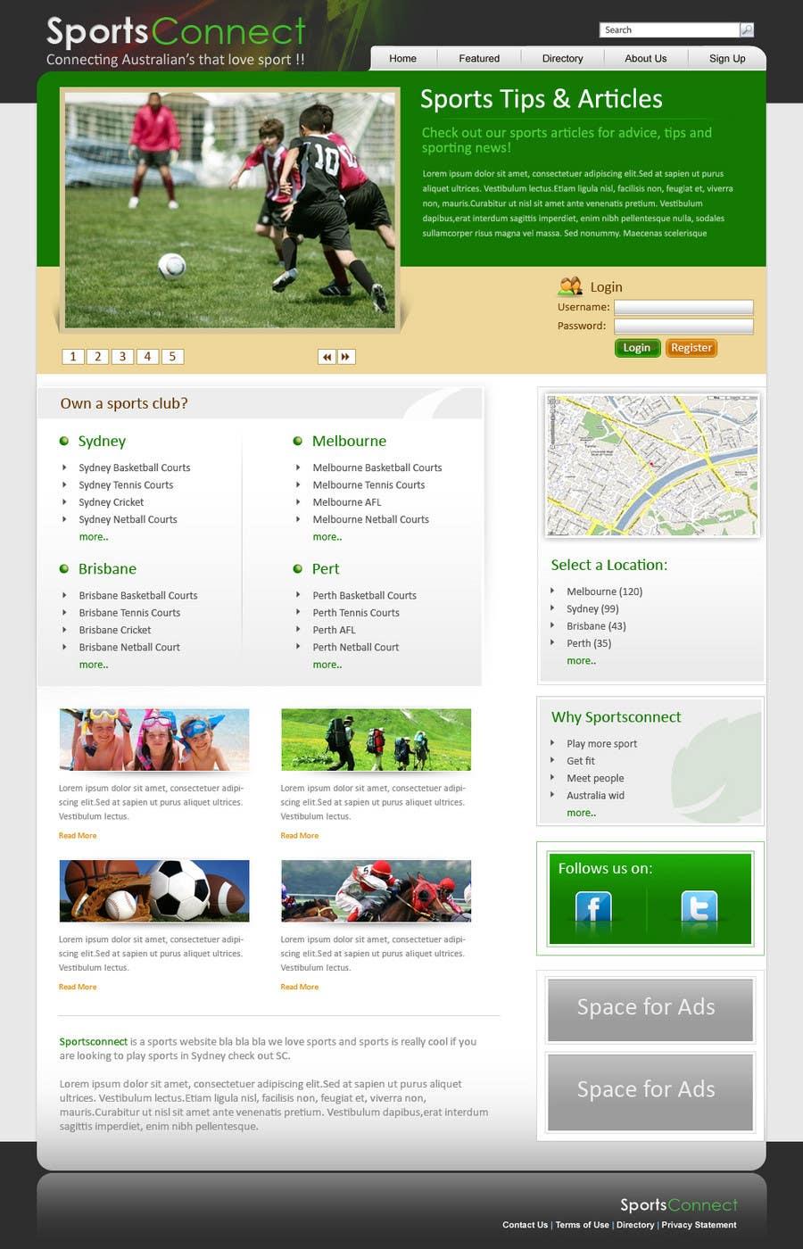 Inscrição nº 112 do Concurso para Website Design for Sportsconnect