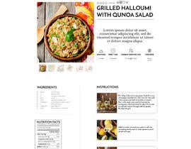 Nro 7 kilpailuun Re-design recipe page käyttäjältä olanloco