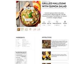 Nro 9 kilpailuun Re-design recipe page käyttäjältä olanloco