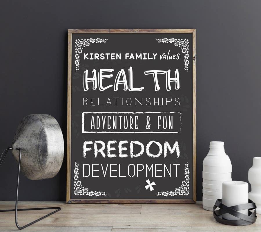 Kilpailutyö #15 kilpailussa Design a Banner for our Family Values