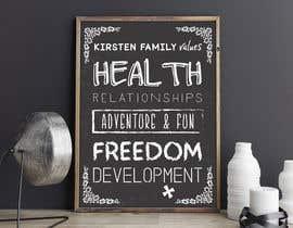 Nro 15 kilpailuun Design a Banner for our Family Values käyttäjältä morfinamc