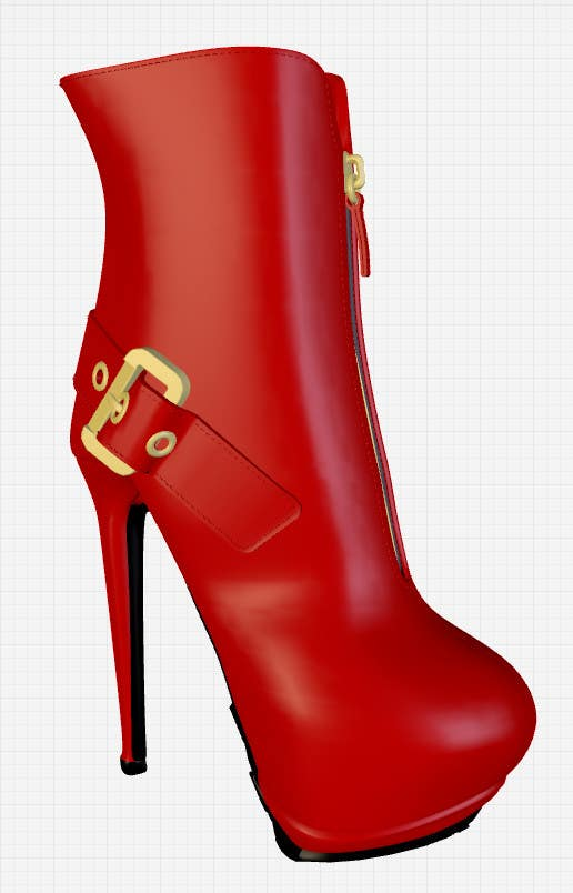 Konkurrenceindlæg #7 for Giuseppe Zanotti Buckled Ankle Boot - ( modelling - texturing )