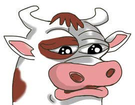 #7 for Draw a cartoon cow character to be used as an emoticon by Valadar