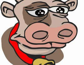 #14 for Draw a cartoon cow character to be used as an emoticon by StaniomaN