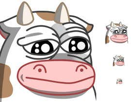#20 for Draw a cartoon cow character to be used as an emoticon by rebevl02