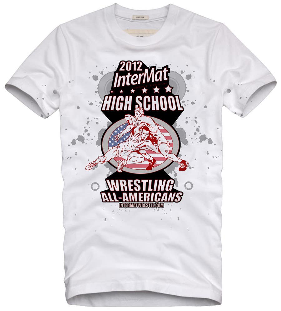 Конкурсная заявка №44 для T-shirt Design for InterMatWrestle.com