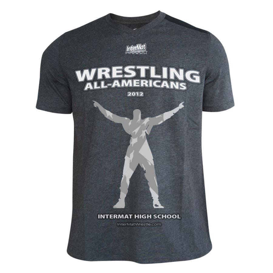 Contest Entry #                                        38                                      for                                         T-shirt Design for InterMatWrestle.com