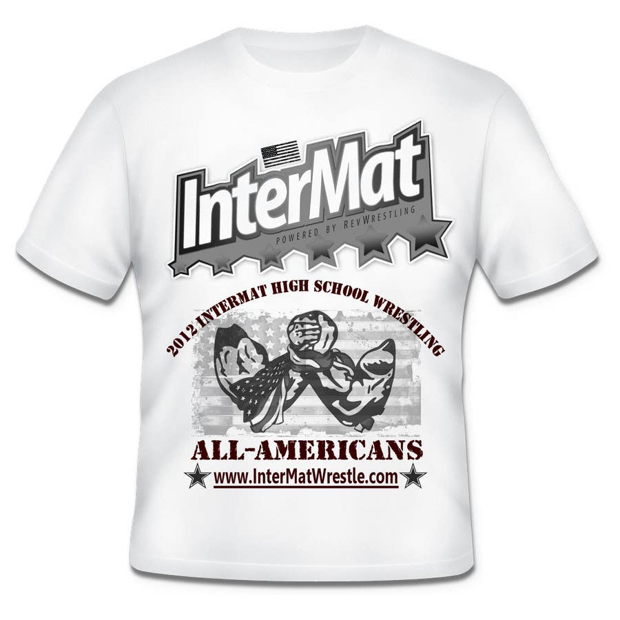 Конкурсная заявка №21 для T-shirt Design for InterMatWrestle.com