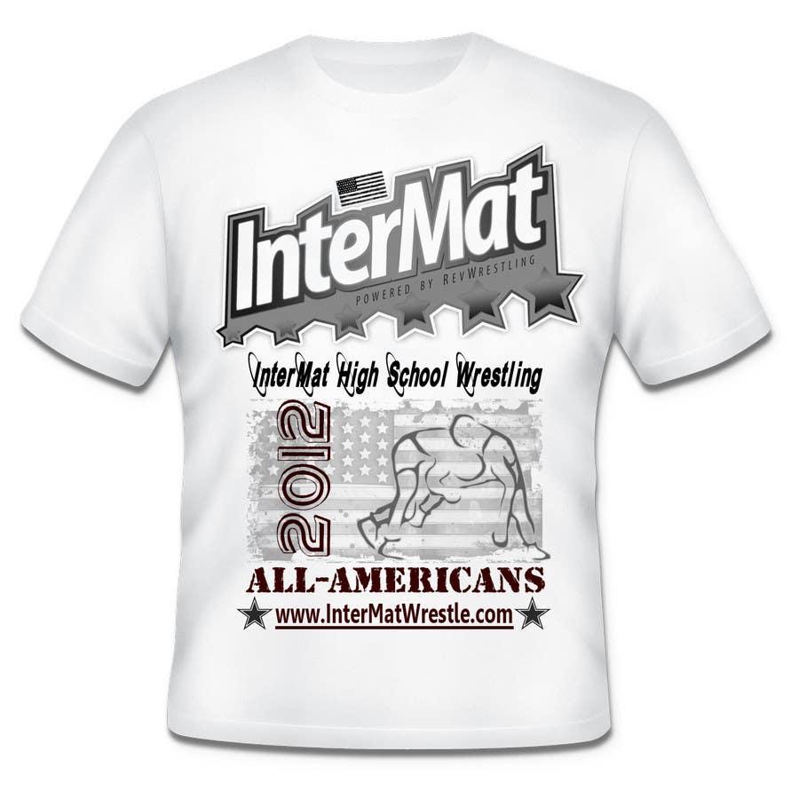 Contest Entry #                                        22                                      for                                         T-shirt Design for InterMatWrestle.com