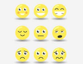 DJMK tarafından Design a grid of 9 original emoji icons için no 4