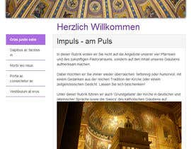 #37 para Responsive webpage design for an exsiting layout (romain catholic church) por SuciuBogdan