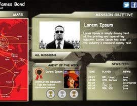 "#64 untuk Design a mockup of web-based game with a ""secret agent"" theme oleh benjalb"