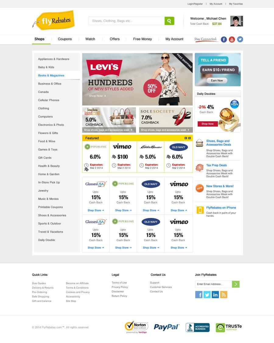 Inscrição nº 7 do Concurso para ***** Design landing page for FlyRebates.com *****