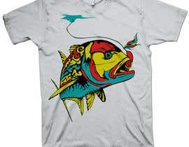 nº 13 pour T-shirt design for Trevally Fish par mckirbz