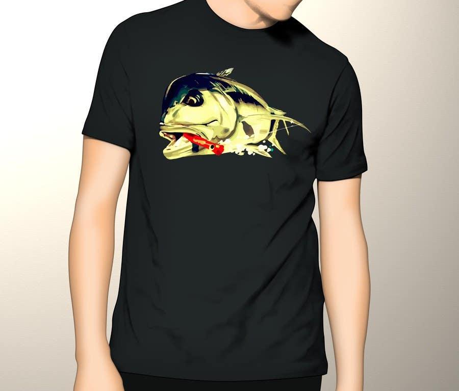 Kilpailutyö #15 kilpailussa T-shirt design for Trevally Fish