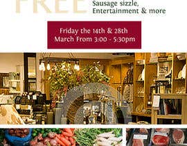 Nro 22 kilpailuun Design a Flyer for a combined communtiy event to create renewed interest in a strip of shops käyttäjältä wedesignvw