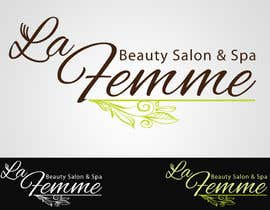 #119 para Logo Design for La FEmme Beauty Salon & Spa por AllisonR