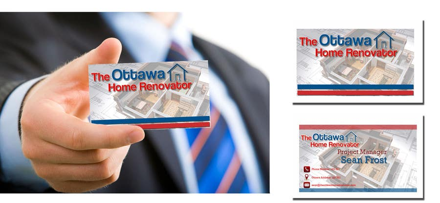 #59 for Design some Business Cards for The Ottawa Home Renovator by rvedran