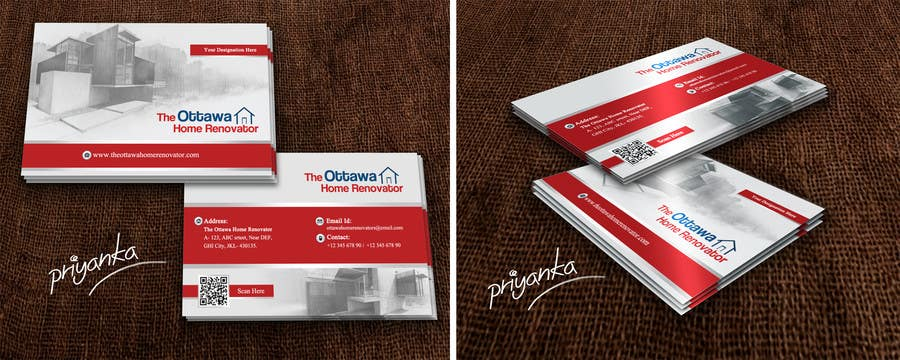 #50 for Design some Business Cards for The Ottawa Home Renovator by priyanka602